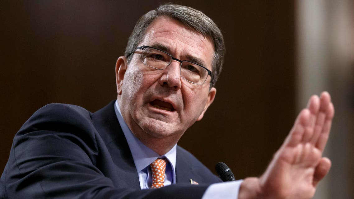 Ashton Carter, President Barack Obama's choice to be defense secretary, testifies before the Senate Armed Services Committee as the panel considers his nomination to replace Chuck Hagel as Pentagon chief, Wednesday, Feb. 4, 2015, on Capitol Hill in Washington. AP