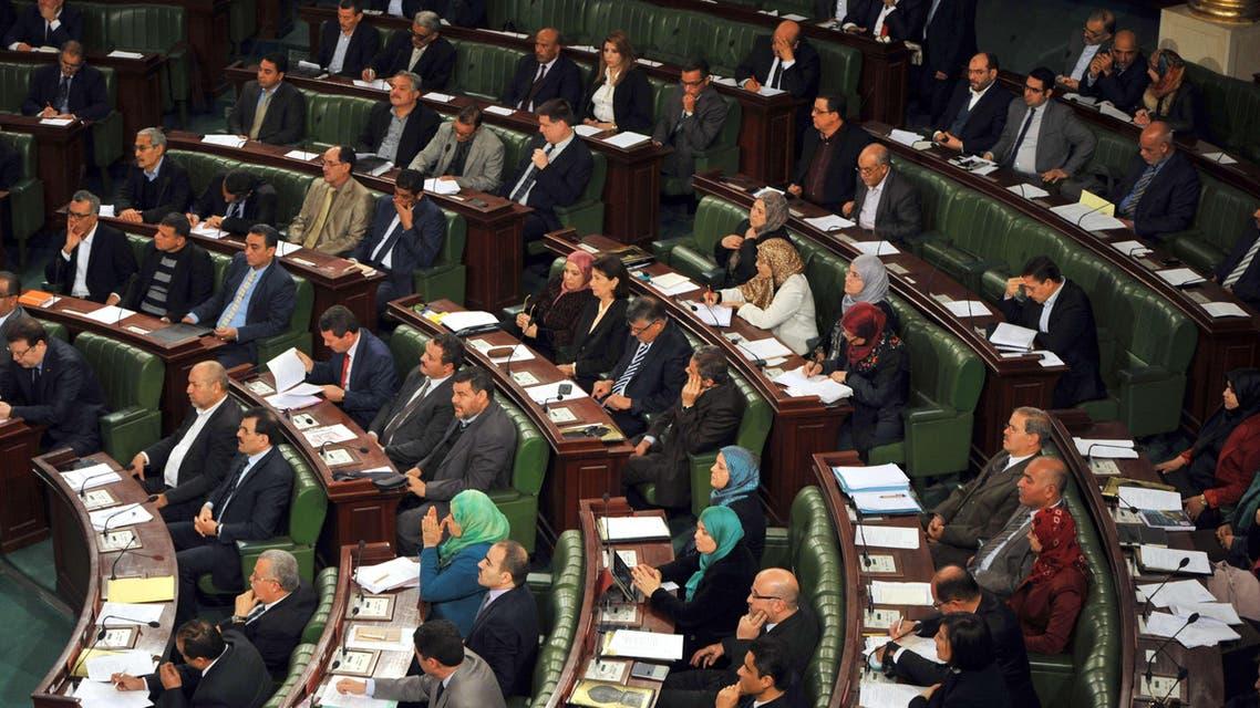 Tunisian Ennahda Islamist party deputies attend a parliament session  Tunis AFP