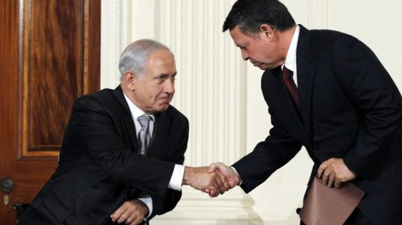 Image result for KING OF JORDAN WITH ISRAELI LEADER  PHOTO