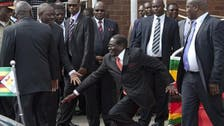 President of Zimbabwe falls over stairs, becomes internet sensation