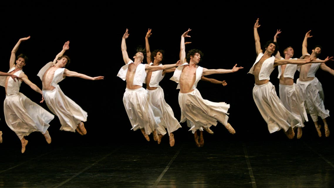 """Dancers of the Bejart Ballet Lausanne perform """"Rumi: Prayer and Dance"""" during a rehearsal at the Ataturk Cultural Center in Istanbul, Turkey, Wednesday, June 13, 2007. (File photo: AP)  Turkey Ballet turkish ballet"""