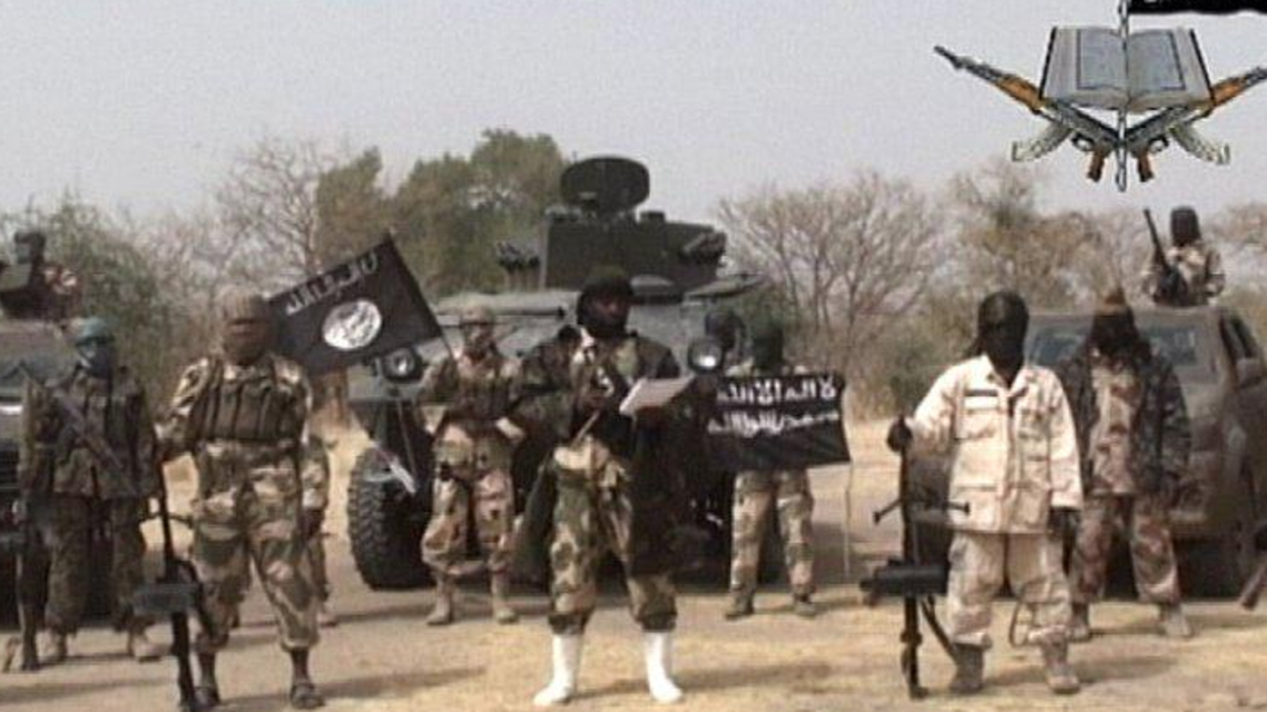 Pictured- A still from a Boko Haram propaganda video. (Photo courtesy of Twitter)