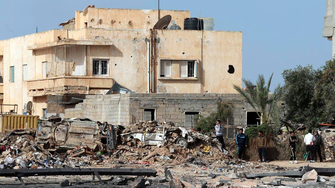 آثار الدمار في بنغازي