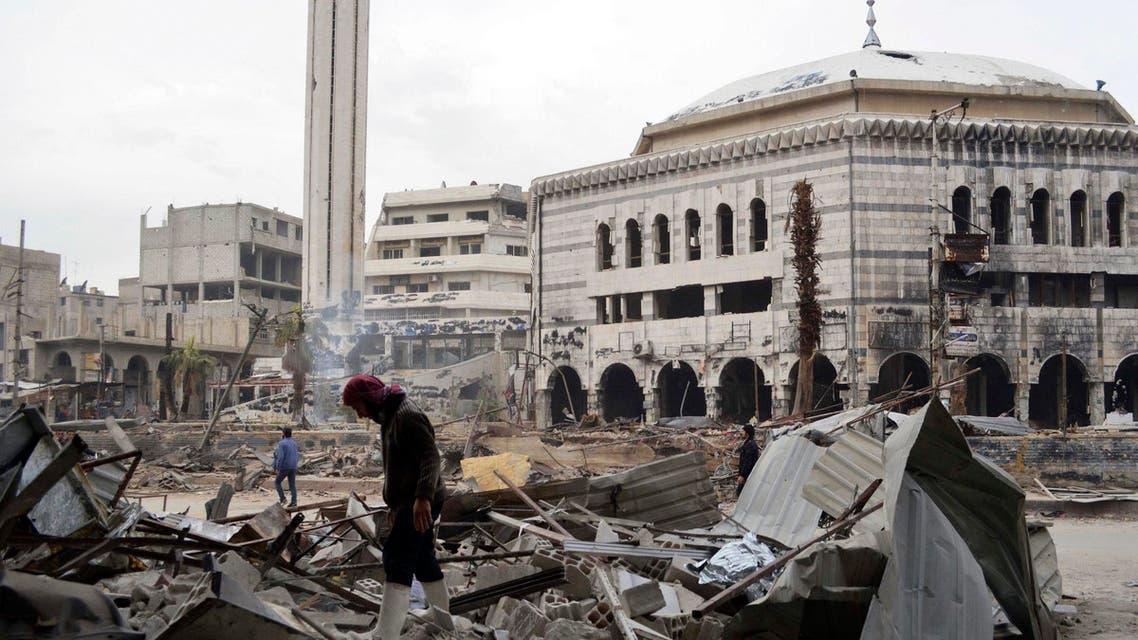 Douma Syria Damascus Reuters