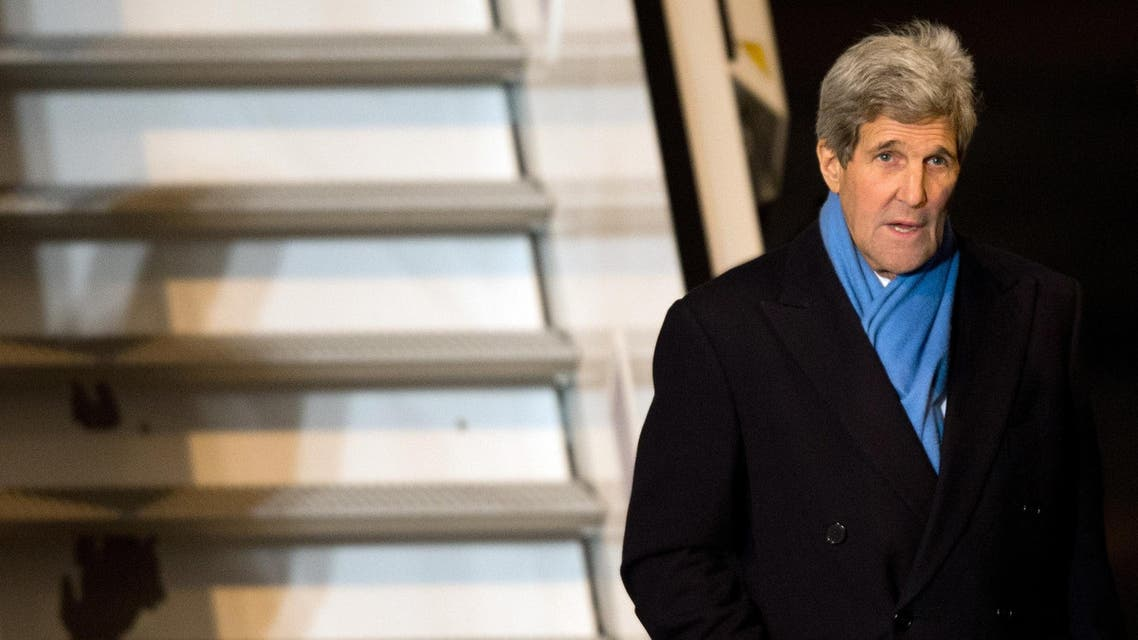 US Secretary of State John Kerry walks off a plane as he arrives on February 5, 2015 in Munich, southern Germany. (File photo: AFP)