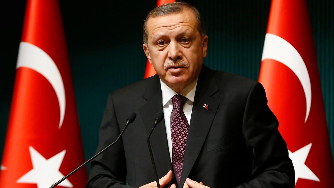 Turkey's President Tayyip Erdogan addresses the media at the Presidential Palace in Ankara January 12, 2015. (File photo: Reuters)