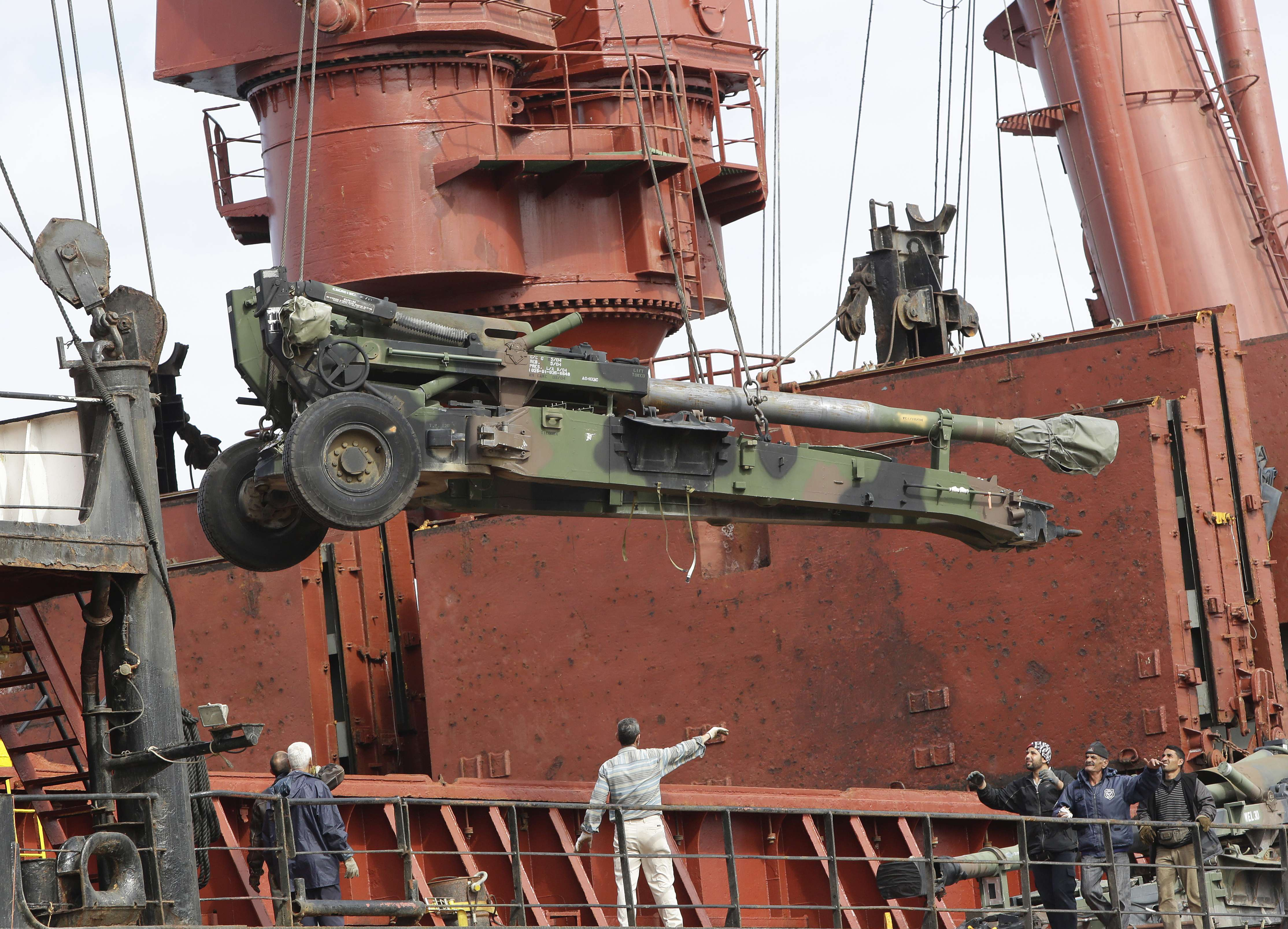 U.S. weapons arrive at Beirut port for Lebanese army AFP