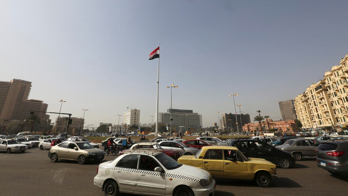 Egypt's national flutters in the wind from the top of a flag pole, which was recently installed in Tahrir Square, in central Cairo, February 3, 2015. (Reuters)