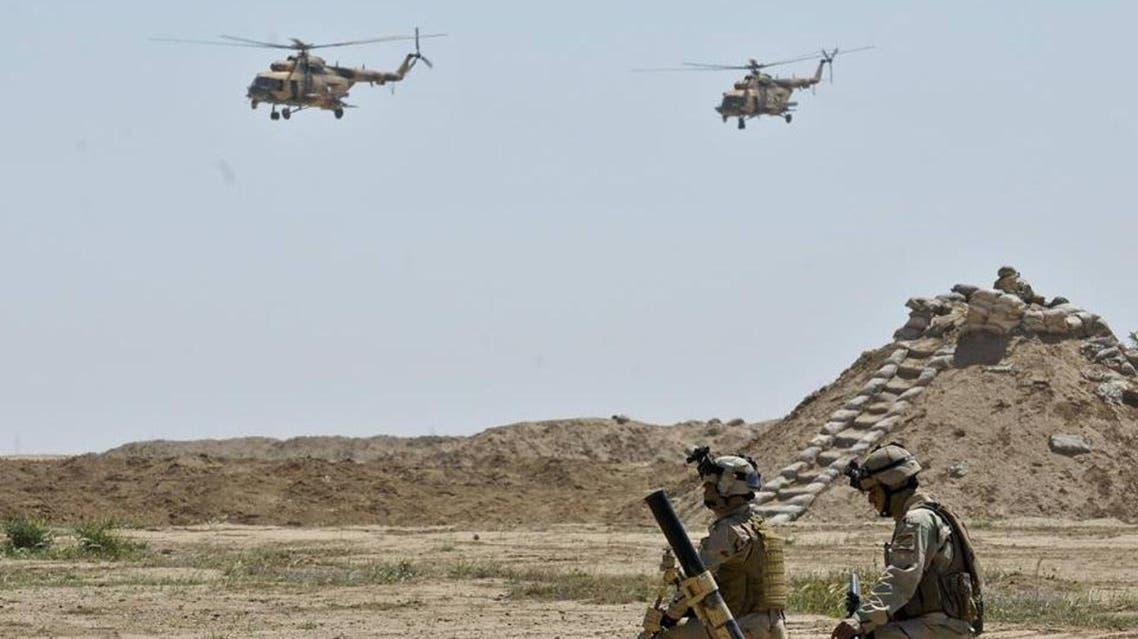 جانب من العمليات الأمنية ضد داعش في الأنبار