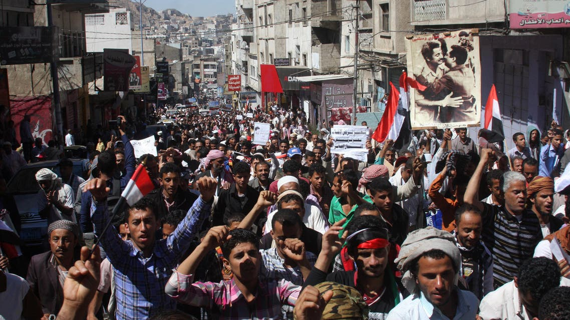 Yemen protests against Houthi Coup AP