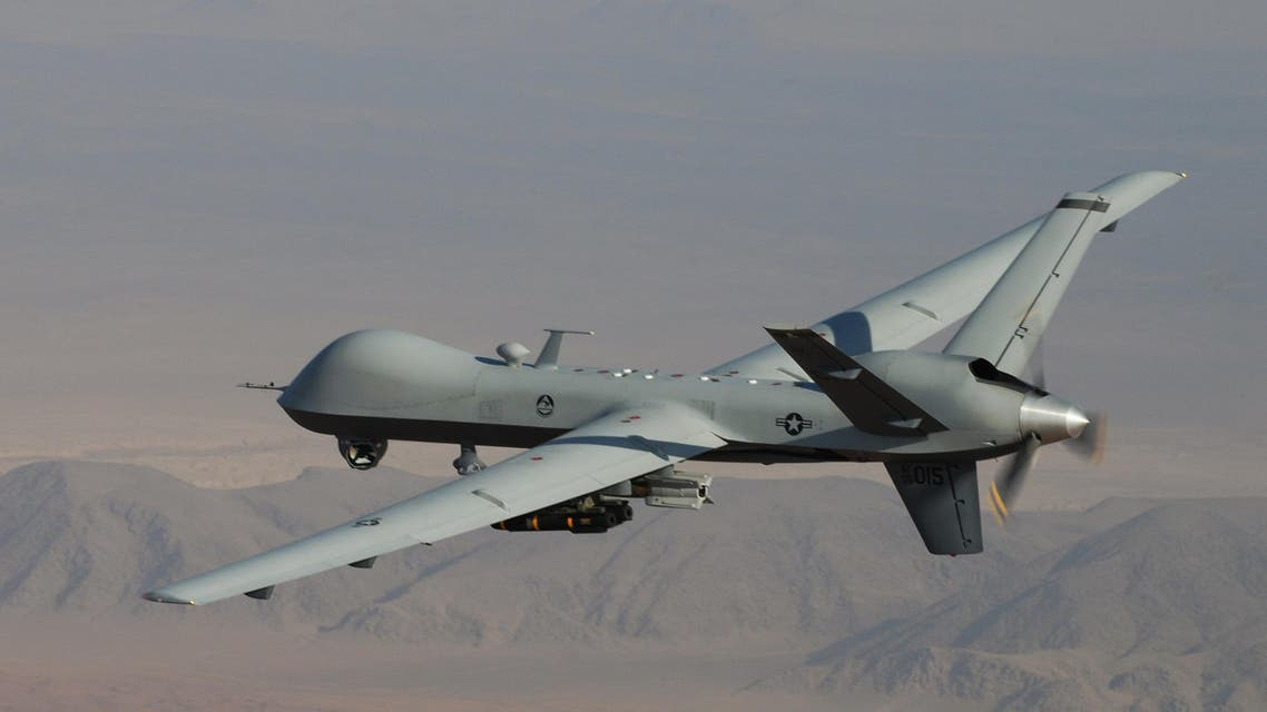 A MQ-9 Reaper, armed with GBU-12 Paveway II laser guided munitions and AGM-114 Hellfire missiles, during a combat mission over southern Afghanistan. (File photo: AP)