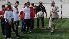Prince Charles plays footie on trip to Zaatari Camp