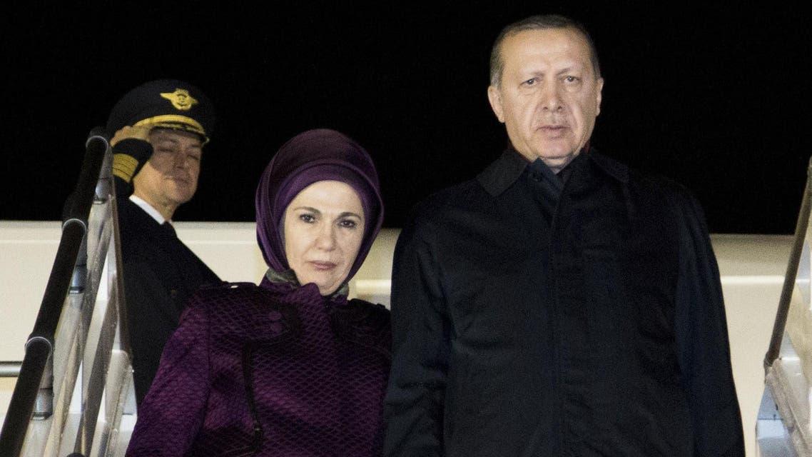 Erdogan and wife AFP