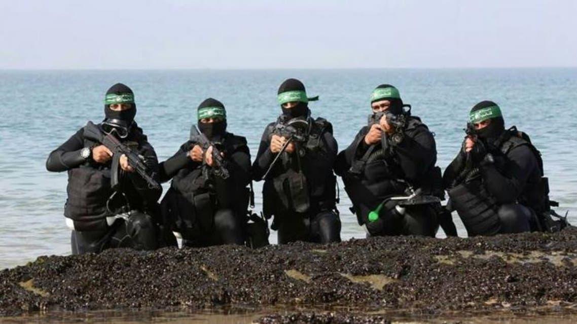 وحدة الضفادع البشرية في كتائب القاسم التابعة لحركة حماس في غزة