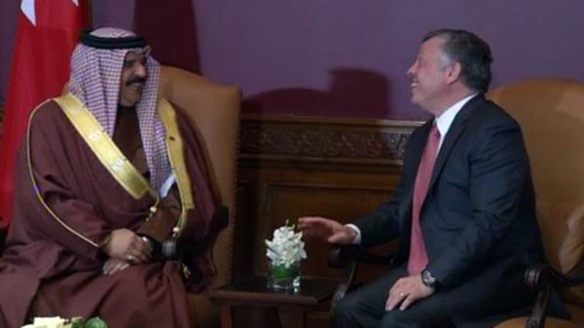 ملك الاردن مع ملك البحرين