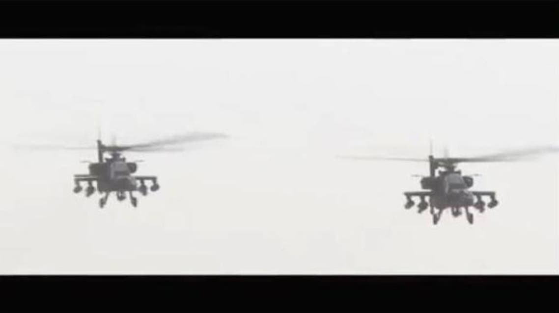الأباتشي تدمر 6 عربات اخترقت حدود مصر