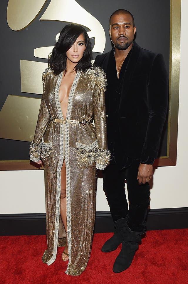 Kim Kardashian and Kany west