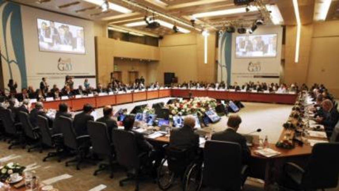 دول مجموعة العشرين مجتمعين في اسطنبول