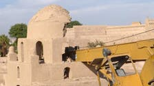 Crane crashes into ancient tomb in Egypt