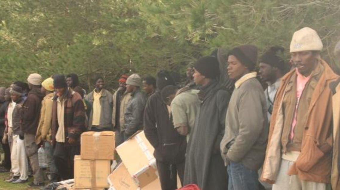 مهاجرون غير قانونيون في غابات في شمال المغرب
