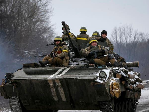 الحرب مشتعلة في أوكرانيا قبيل وقف إطلاق النار