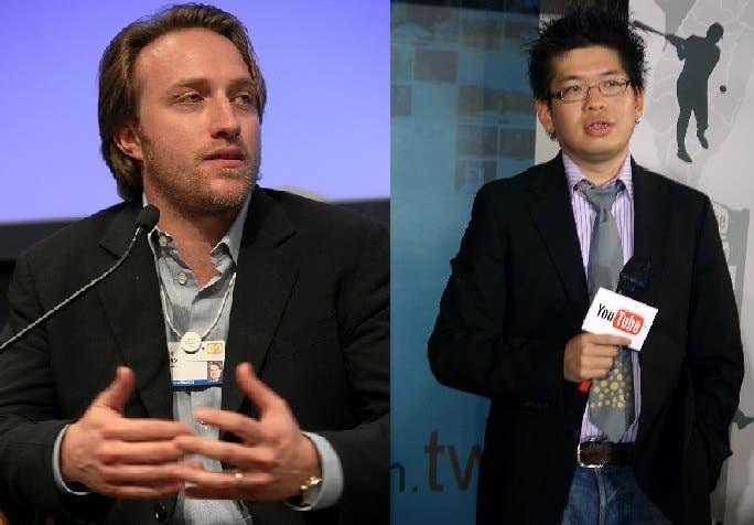 الشريكان المؤسسان مع جاود كريم، الأميركي من أصل تايواني ستيف تشين والأميركي تشاد هارلي