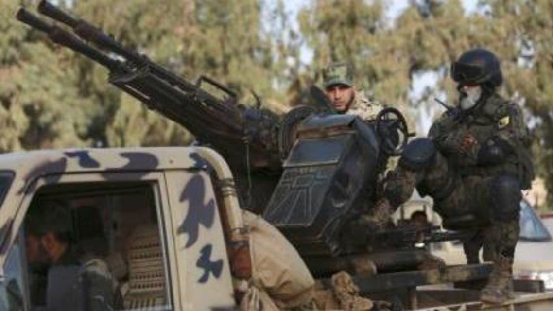 عناصر من الجيش الوطني الليبي في بنغازي