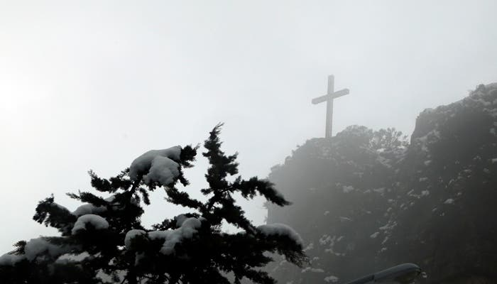 Snow covers south Lebanon