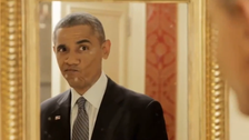 Light-hearted Obama takes selfie, preens in spoof video