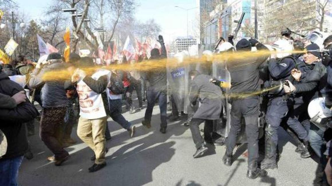Police use tear gas to disperse scores of protesters boycotting schools over the growing influence of religion in the classroom in Ankara February 13, 2015. (Reuters)