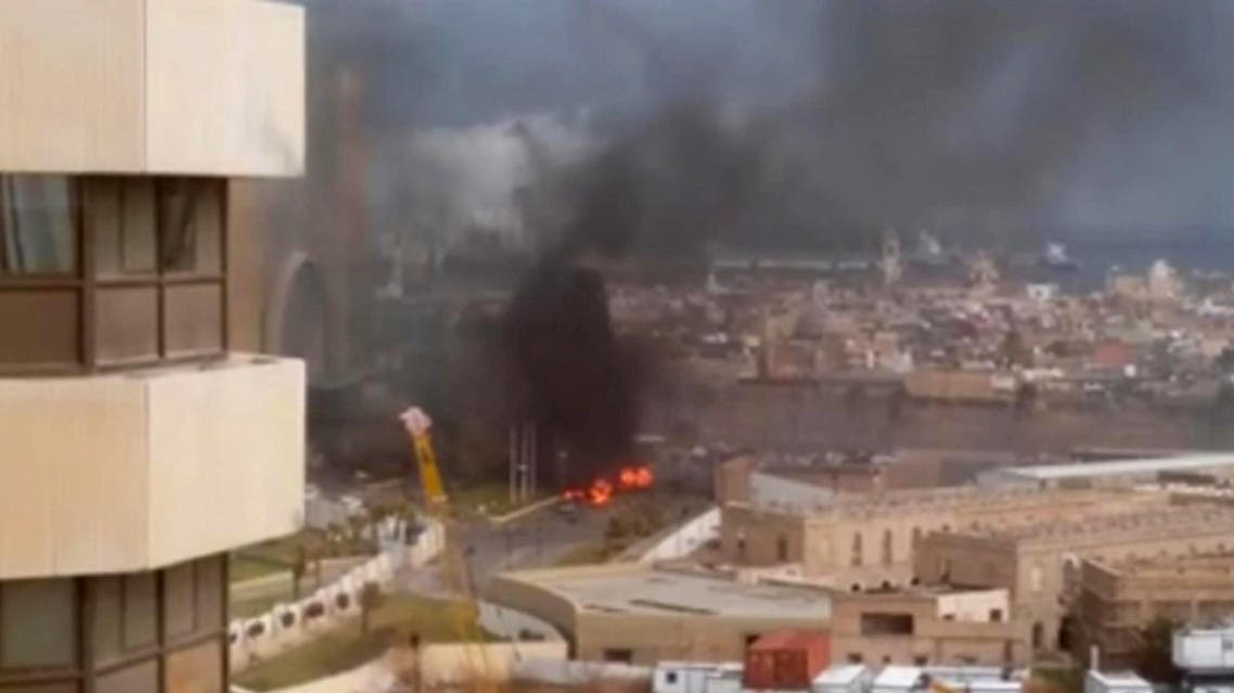 A group affiliated with ISIS claimed a deadly and fairly complex attack on a Tripoli hotel in January. (File photo: AP)
