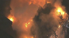 Fire burns Islamic center in Houston, Texas