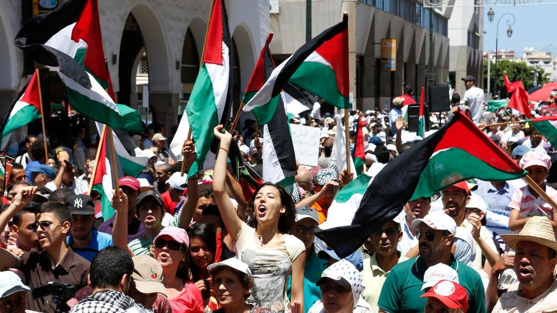 Morocco Palestine protest