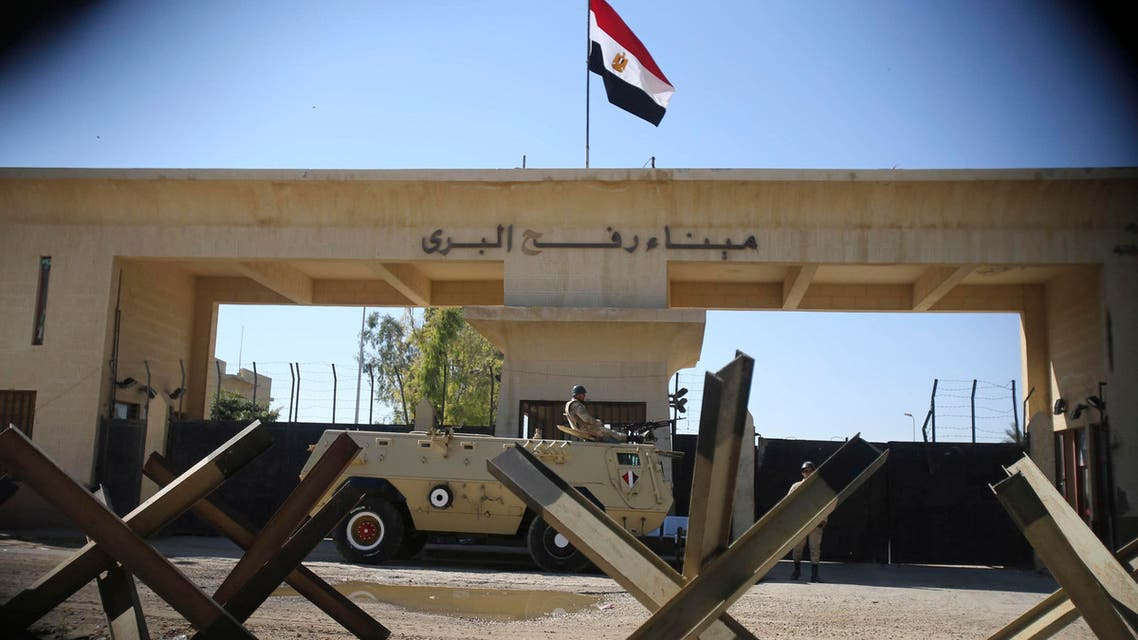An Egyptian soldier keeps watch at the closed Rafah border crossing, between southern Gaza Strip and Egypt in this November 6, 2014 file photo.  (Reuters)
