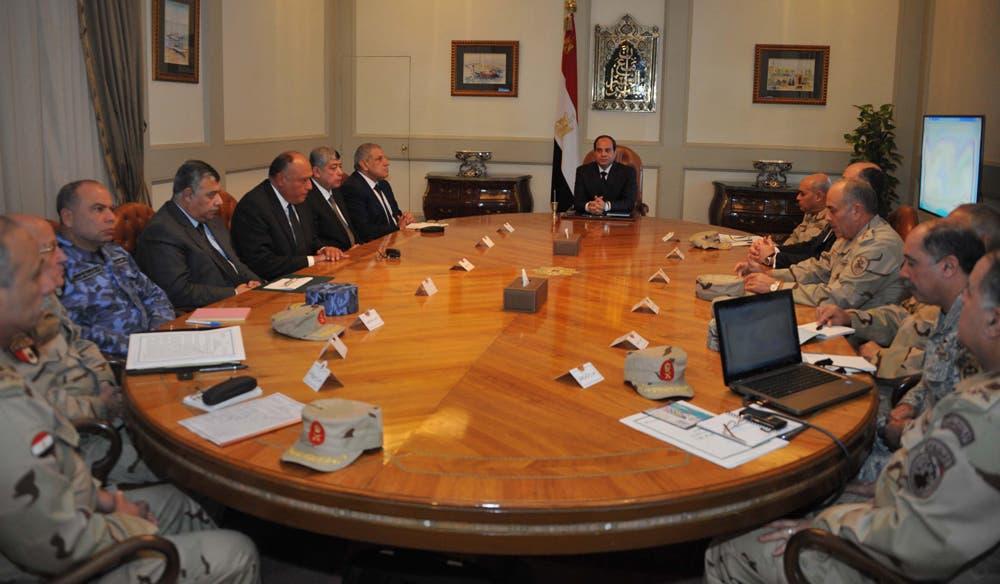 السيسي خلال اجتماعه مع مجلس الدفاع الوطني