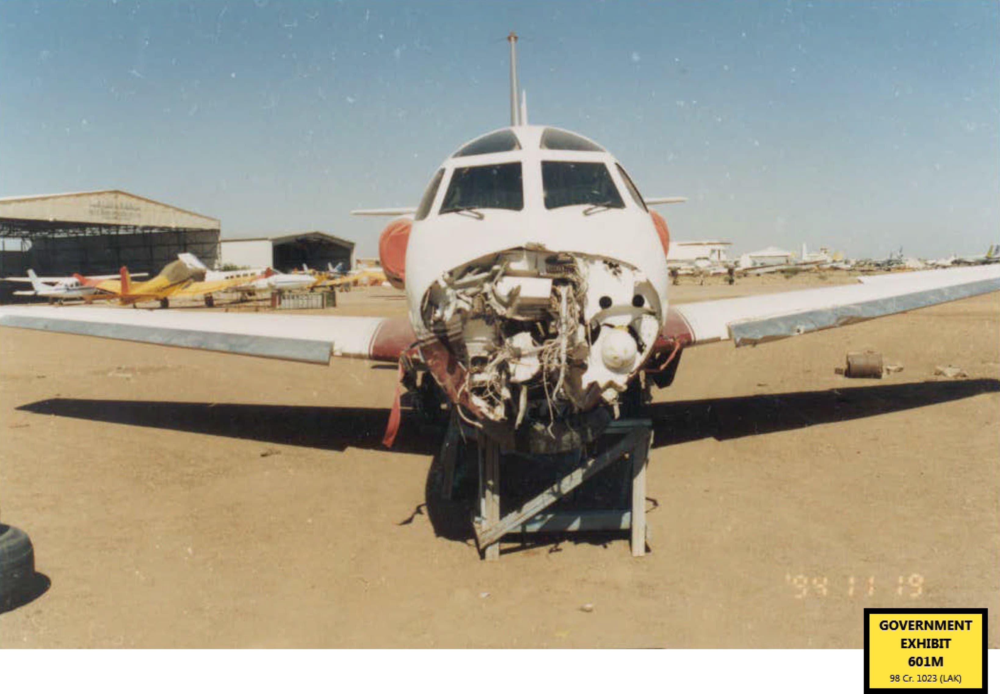 Bin Laden's private jet AP