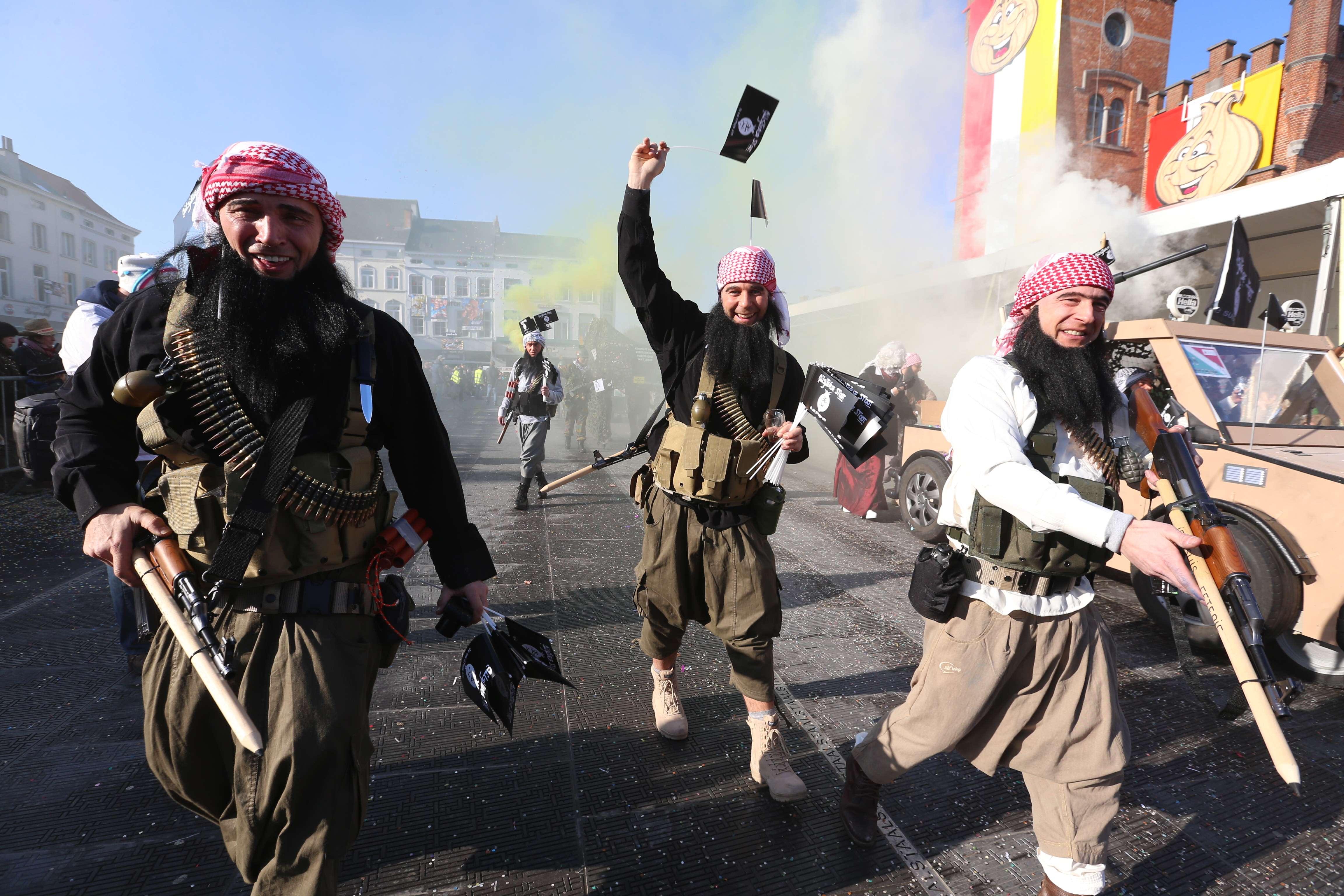 Parade mocks ISIS (AFP)