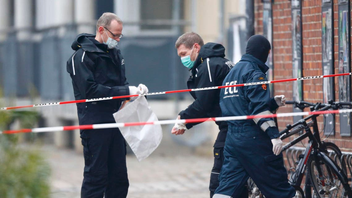 Danish police investigate area where unattended package was found in front of cafe in Copenhagen