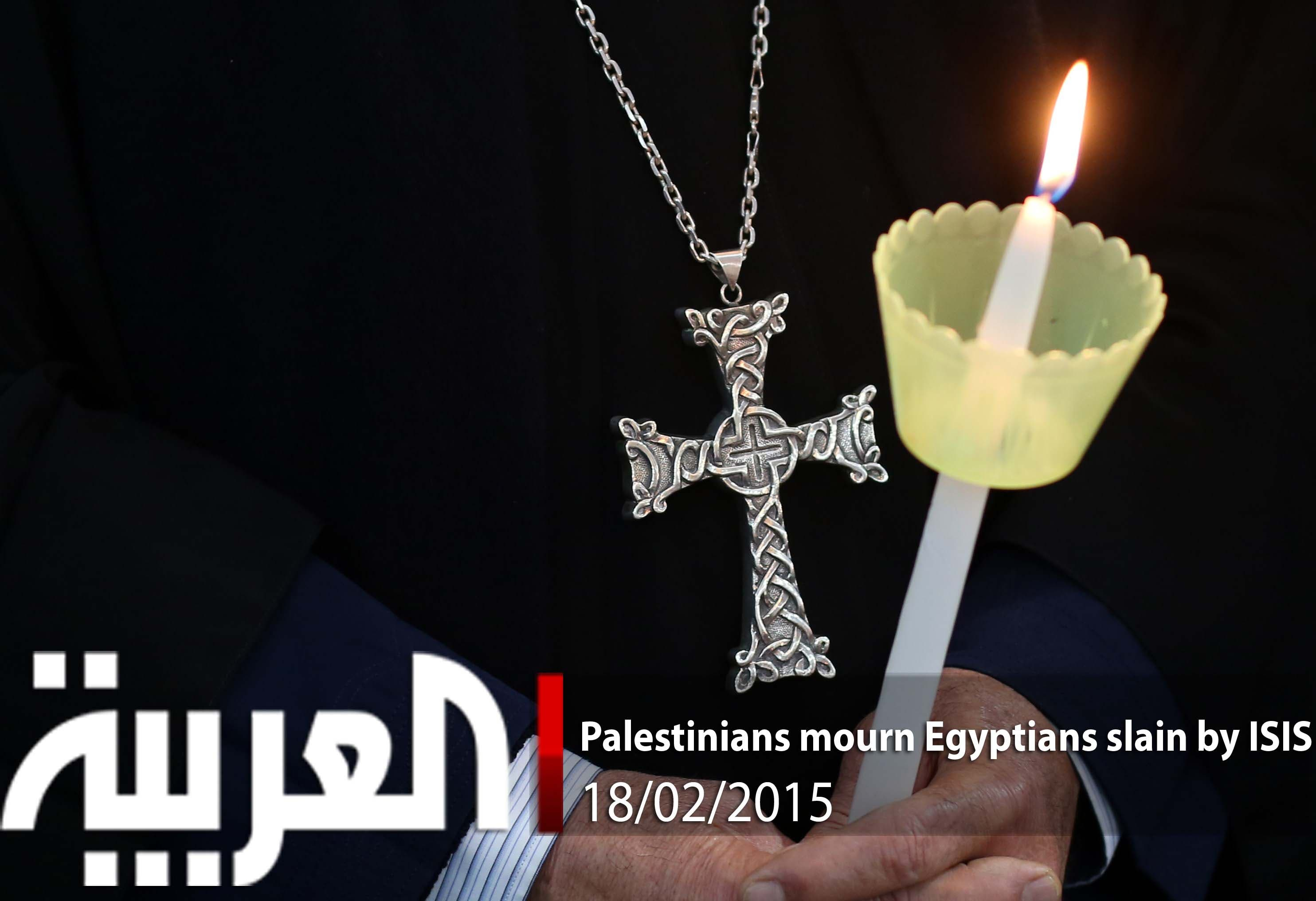 Palestinians mourn Egyptians slain by ISIS