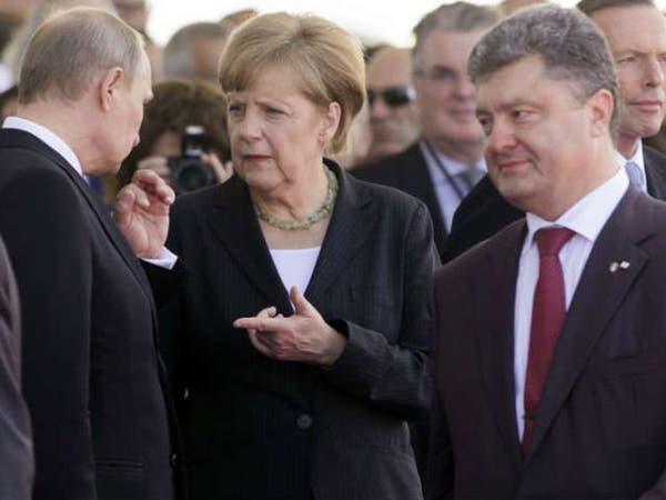أوكرانيا.. اتفاق بين ميركل وبوتين على تثبيت الهدنة