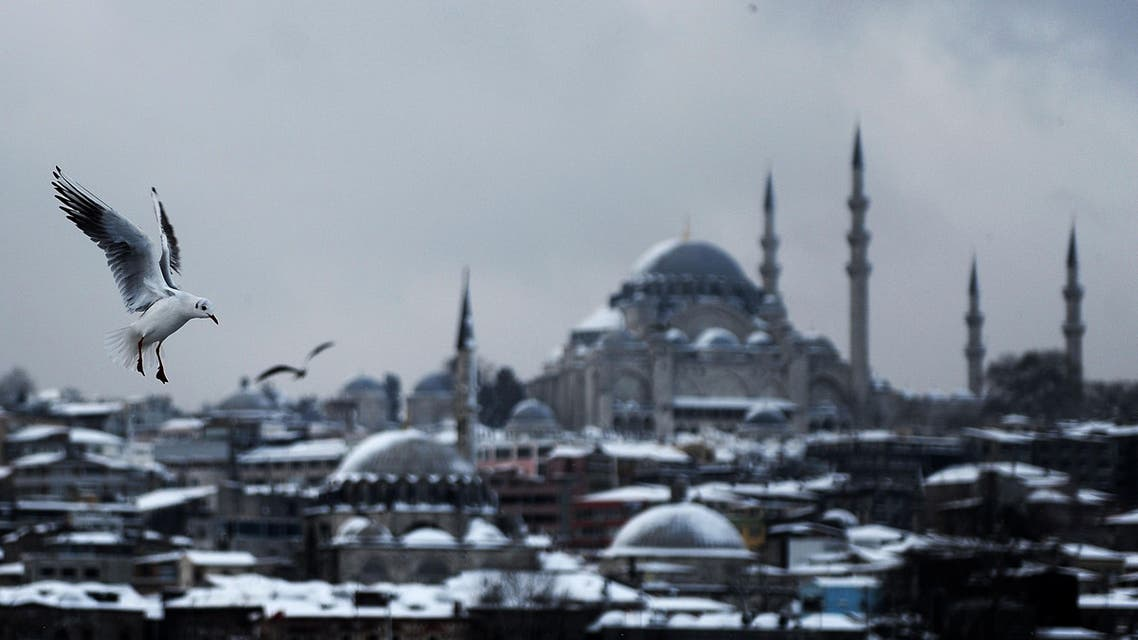 Snowstorm strikes Istanbul AFP
