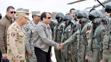 السيسي يتفقد جاهزية قواته على حدود ليبيا