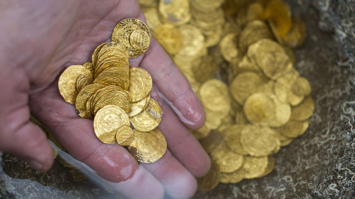 gold coins Mediterranean Fatimid Caliphate archaeology afp Israel