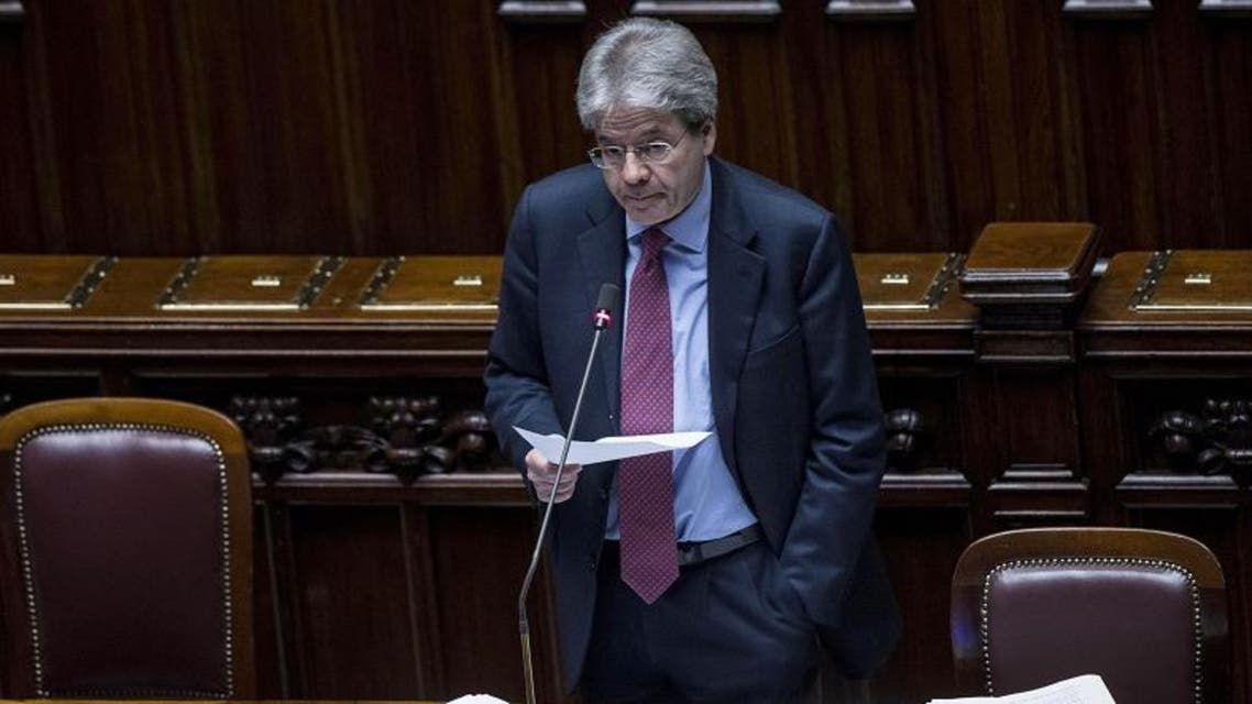 Italian Foreign Minister Paolo Gentiloni delivers his speech at the Lower Chamber in Rome, Wednesday, Feb. 18, 2015. (AP)