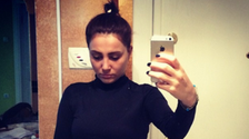 Turks post selfies in black to commemorate slain woman