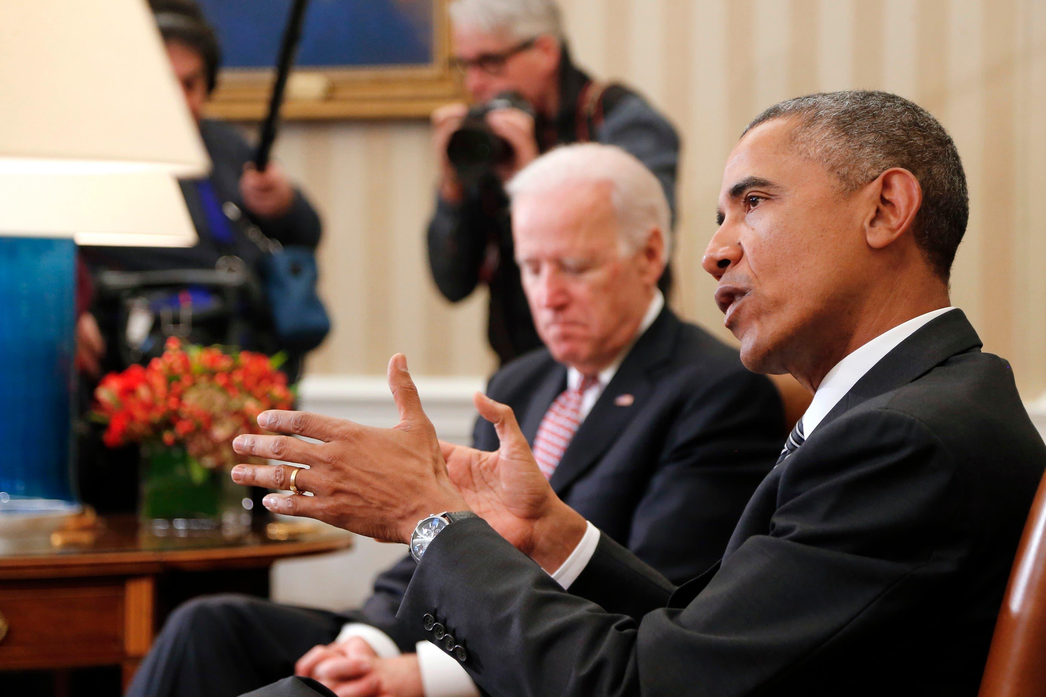 أوباما وجو بايدن