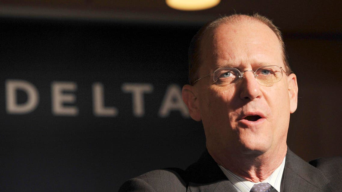 Delta Air Lines Chief Executive Officer Richard Anderson speaks during a press conference at a hotel in Tokyo, Thursday, Jan. 15, 2009. (AP)