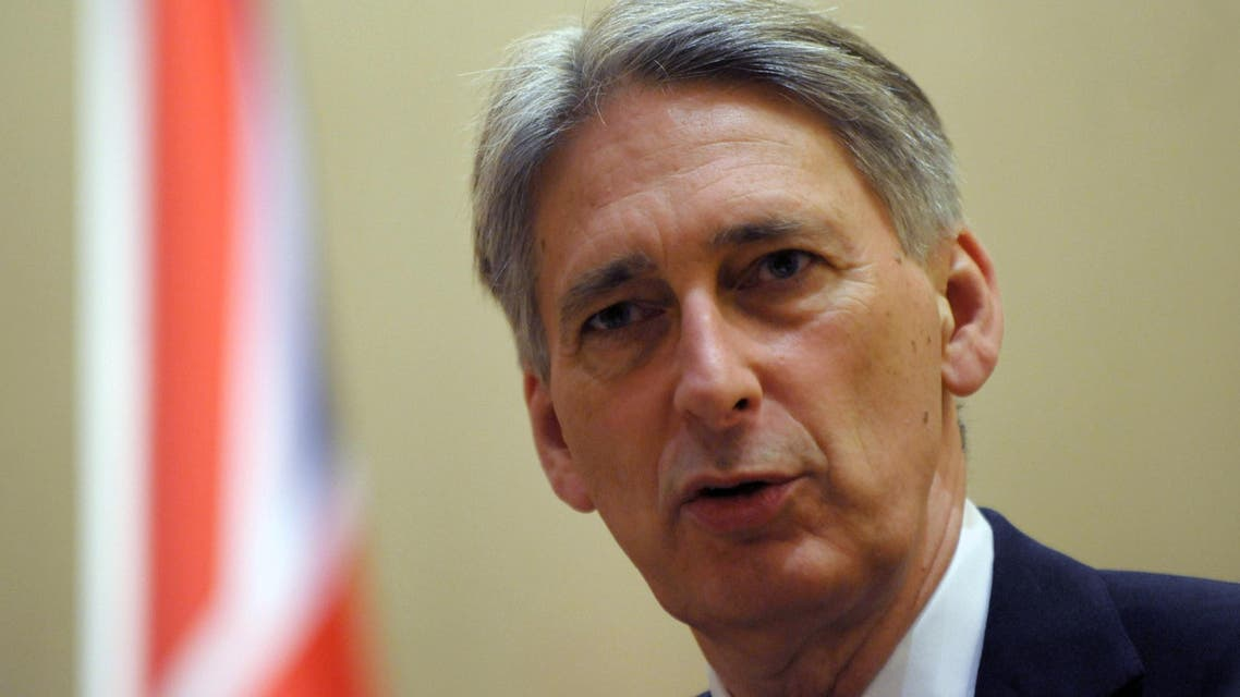 British foreign minister Philip Hammond speaks during a press conference with his Algerian counterpart after a meeting on February 19, 2015 in Algiers. (AFP)