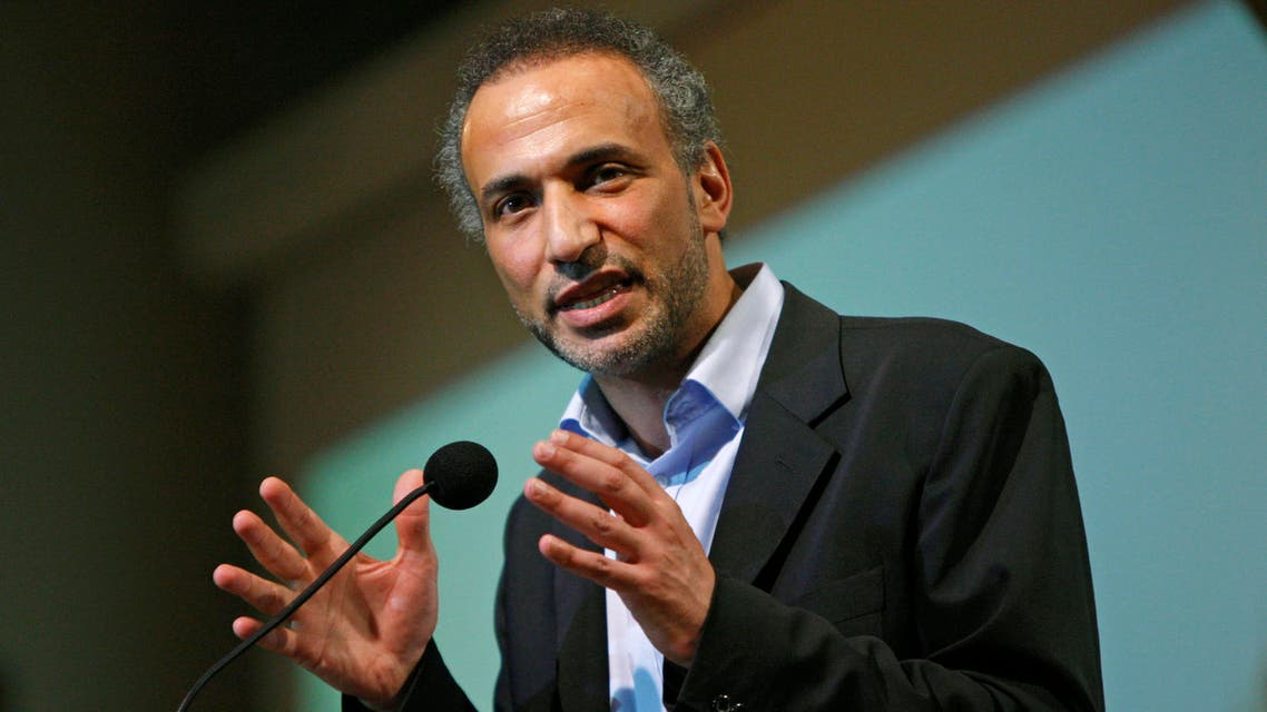 Muslim scholar Tariq Ramadan speaks at Cooper Union in New York, Thursday, April 8, 2010. (AP)