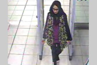 Shamima Begum, 15, at Gatwick airport. (Photo courtesy: Metropolitan Police)